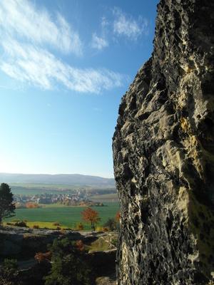 Blick Richtung Harz von der Teufelsmauer aus