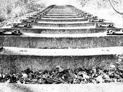 Gleise ohne Schienen