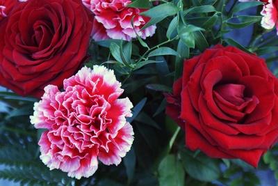 Am Grab - Blumen für die Mutter