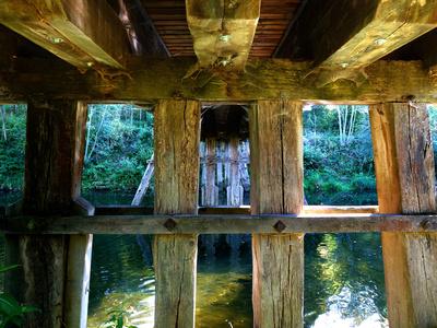 Historische Pfahljochbrücke über den Neckar 3