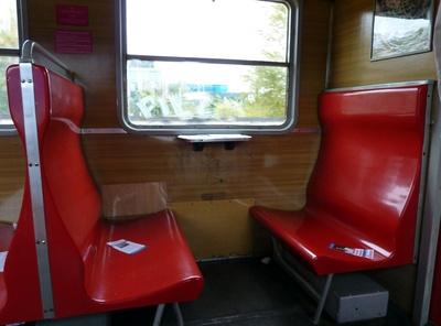 Sitze in der Danziger S-Bahn