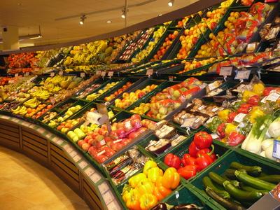 Obst u. Gemüsestand