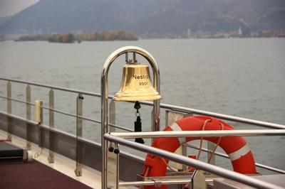 Die MS Nestroy auf der Donau