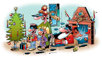 Der Weihnachtsmann sieht schwarz!