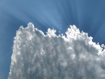 Wolkenstrahlen