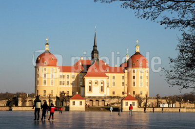 Februartag an Schloss Moritzburg