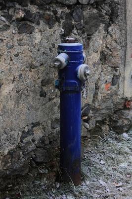 Blaue Hydranten