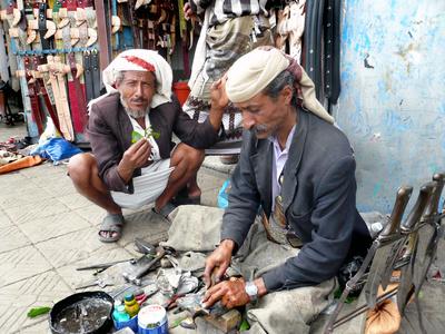 Handwerker am Bab al Yemen