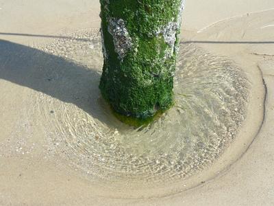 Strudel im Sand