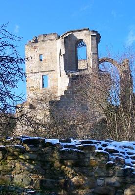 Altenstein Burgruine im Winter