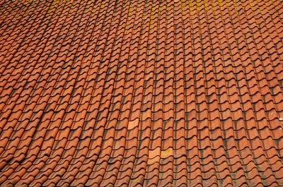 Textur orange Dachpfannen
