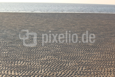 Ebbe auf Föhr in der Nordsee