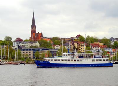 Flensburg mit St. Jürgen-Kirche