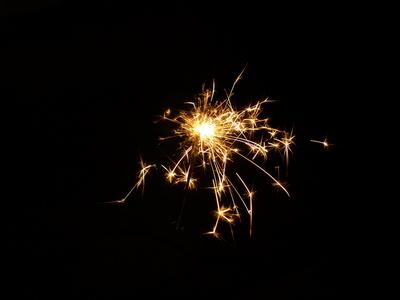 Sprühendes Neues Jahr!