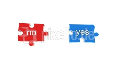 Puzzleteile Yes/No
