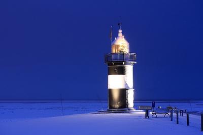 Wremer Leuchtturm zur blauen Stunde!