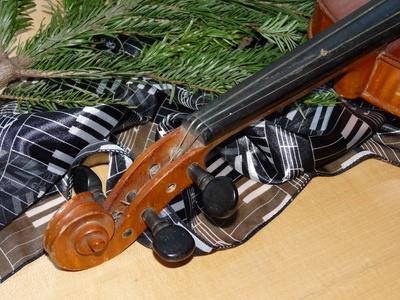 Alte Geige (Detail)