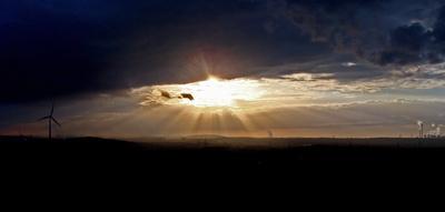 Sonne über dem Ruhrgebiet