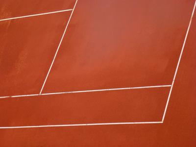Tennisplatz-Linien