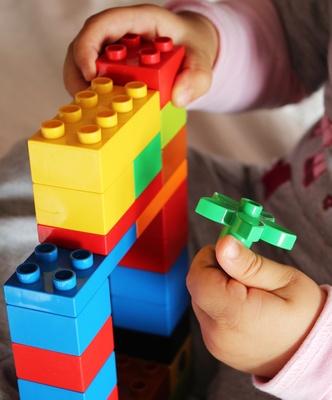 Etwas Schönes mit Legosteinen