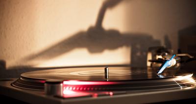 Vinyl mit Schatten