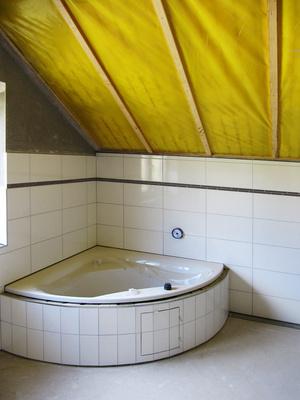 Bad-Einbau im Dachgeschoss