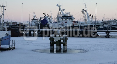 Hvide Sande - Fischkutter im Winter