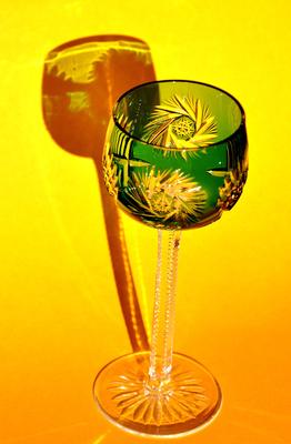 Bleikristallglas im Licht
