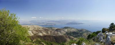Blick vom Pantokrator, Insel Korfu