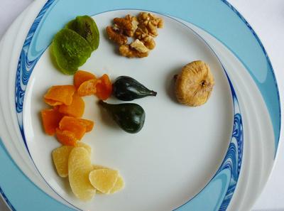 Frühstück mit Früchten