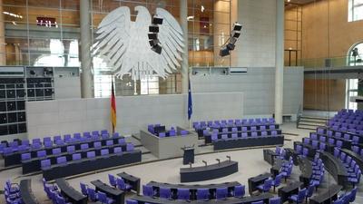 Plenarsaal des Deutschen Bundestages