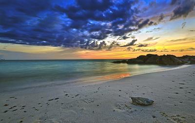 Sonnenuntergang an der toskanischen Küste