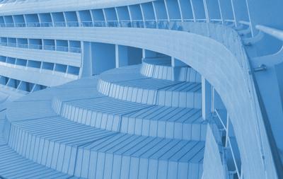 Fond - schwungvolle Architektur