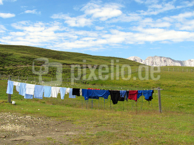 Waschtag auf der Alm