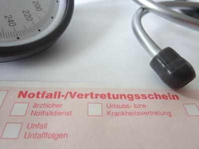 Arzt-Notfall-/Vertretungsschein