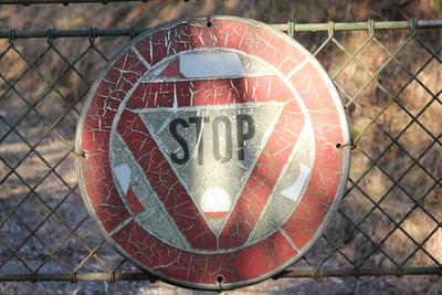 Stop am Tor
