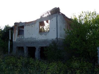 Zerstörtes Haus in Kroatien1