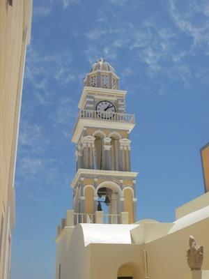 Kirchturm in Santorin