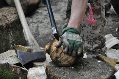 Kleinholz machen