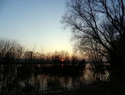 Im Biberland geht die Sonne unter