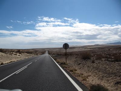 Die Straße auf Fuerteventura