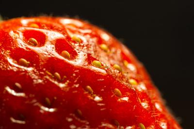 Erdbeere im Close-Up