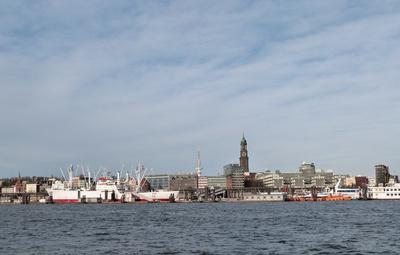 Hamburger Hafen - Skyline