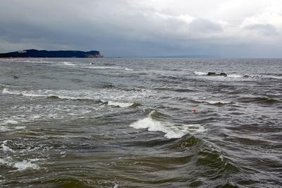 Verregnete triste Ostsee bei Göhren/Rügen