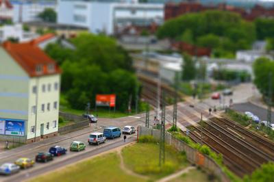 Bahnübergang in Dessau-Roßlau