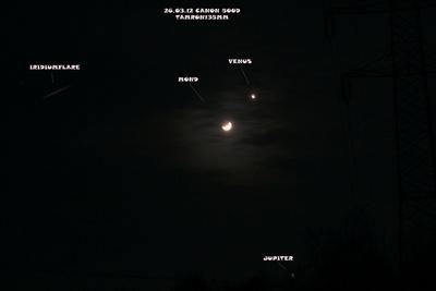 Planetenkonstellation vom 26.3.2012