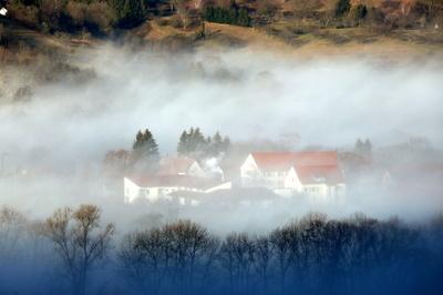 Nebel über Bad Urach