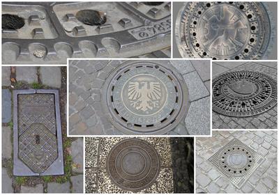 Kanaldeckel - Collage