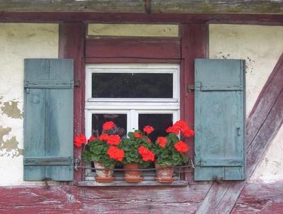 Ein geschmücktes Fensterchen