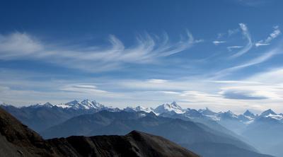 Auf dem Trubelstock: Walliser Alpenwelt